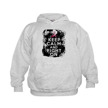 Head Neck Cancer Keep Calm Fight On Kids Hoodie