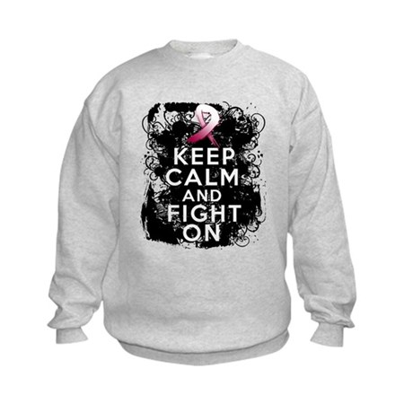 Head Neck Cancer Keep Calm Fight On Kids Sweatshir