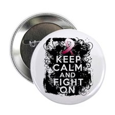 "Head Neck Cancer Keep Calm Fight On 2.25"" Button ("