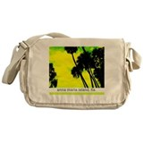 Palms against yellow sky Messenger Bag