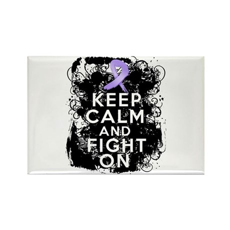 General Cancer Keep Calm Fight On Rectangle Magnet