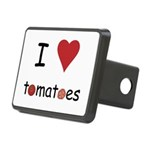 I Love Tomatoes Rectangular Hitch Cover