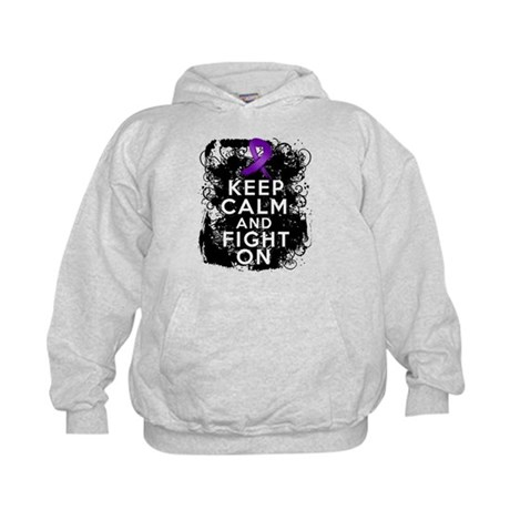 Fibromyalgia Keep Calm Fight On Kids Hoodie