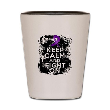 Fibromyalgia Keep Calm Fight On Shot Glass