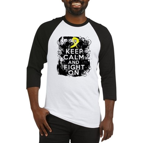 Ewings Sarcoma Keep Calm Fight On Baseball Jersey