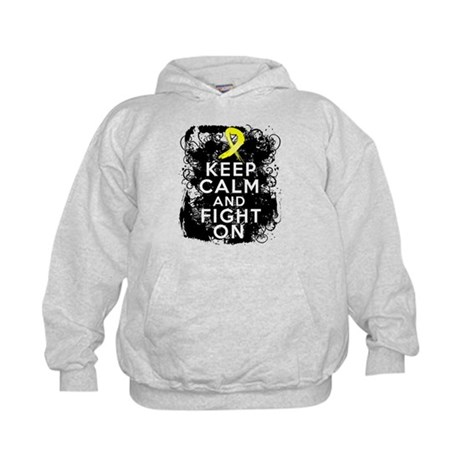 Ewings Sarcoma Keep Calm Fight On Kids Hoodie