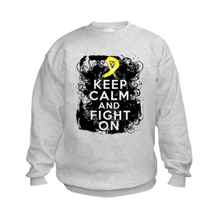 Ewings Sarcoma Keep Calm Fight On Kids Sweatshirt