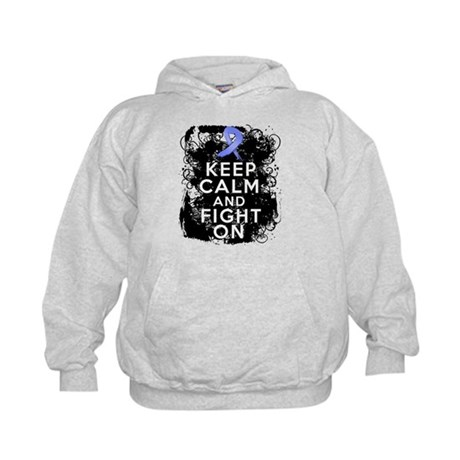 Esophageal Cancer Keep Calm Fight On Kids Hoodie