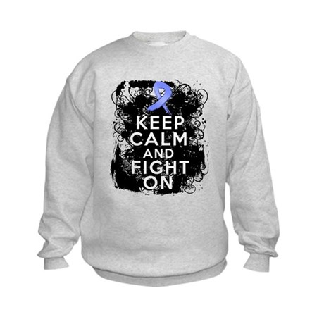 Esophageal Cancer Keep Calm Fight On Kids Sweatshi