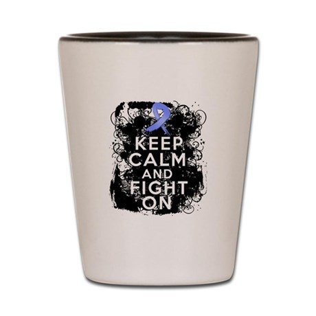 Esophageal Cancer Keep Calm Fight On Shot Glass