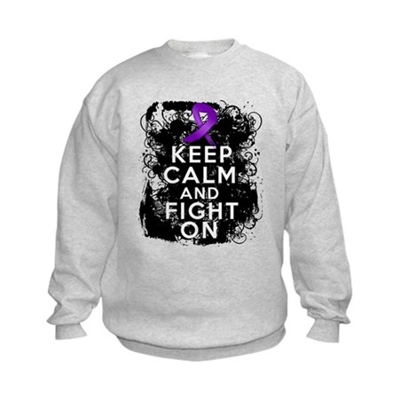 Epilepsy Keep Calm Fight On Kids Sweatshirt