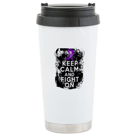 Epilepsy Keep Calm Fight On Ceramic Travel Mug