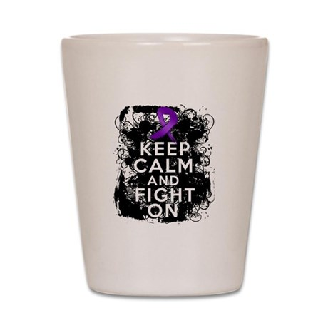 Epilepsy Keep Calm Fight On Shot Glass
