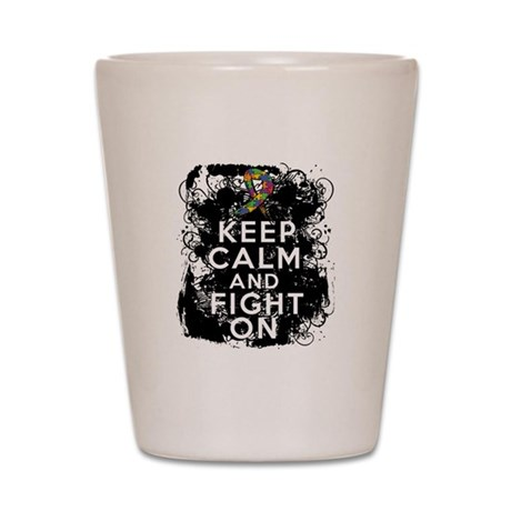 Autism Keep Calm Fight On Shot Glass
