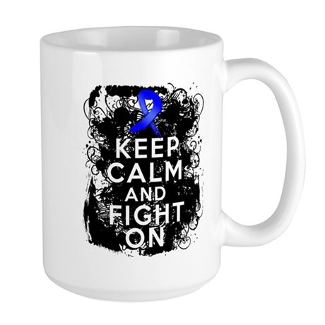 Colon Cancer Keep Calm Fight On Large Mug