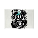 Cervical Cancer Keep Calm Fight On Rectangle Magne
