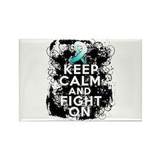 Cervical Cancer Keep Calm Fight On Rectangle Magne