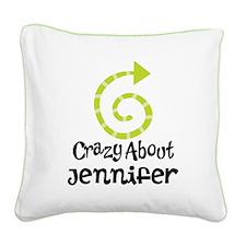 Personalized Couples Crazy Square Canvas Pillow