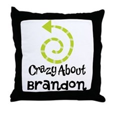 Personalized Couples Crazy Throw Pillow