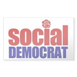 Social Democrat Rectangle Decal
