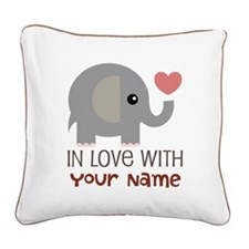 Personalized Matching Couple Square Canvas Pillow