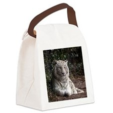 White Tiger Canvas Lunch Bag