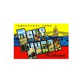 Port Huron Michigan Greetings Wall Decal