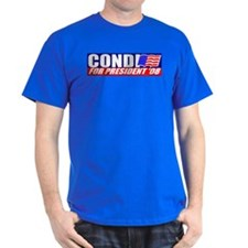 Condi Rice For President Black T-Shirt