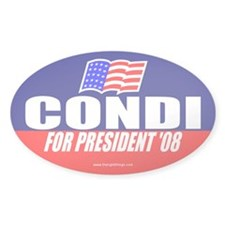 Condi Rice For President Oval Decal
