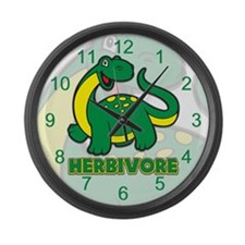 Herbivore Dinosaur Large Wall Clock