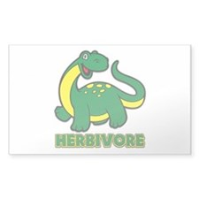 Herbivore Dinosaur Sticker (Rectangle 10 pk)