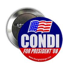 Condi Rice For President Button