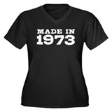 Made in 1973 Women's Plus Size V-Neck Dark T-Shirt