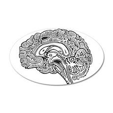 Science Geek Brain 20x12 Oval Wall Decal