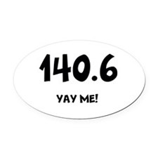 Cute Iron Oval Car Magnet