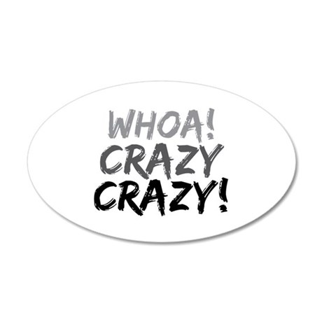 Whoa! Crazy Crazy! 20x12 Oval Wall Decal