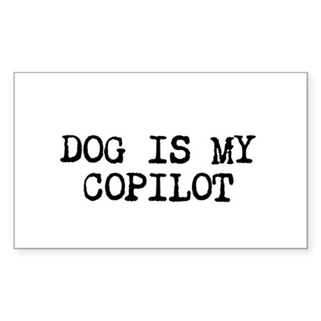 Dog is my Copilot Sticker