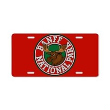 Banff Moose Circle Aluminum License Plate