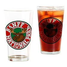 Banff Moose Circle Drinking Glass