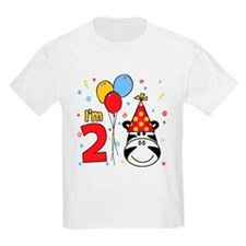 Zebra Face 2nd Birthday T-Shirt