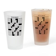 Crossword Puzzle Drinking Glass
