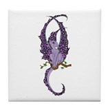 Perched Purple Dragonette Tile Coaster