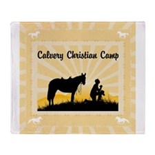 Christian Cowboy Throw Blanket
