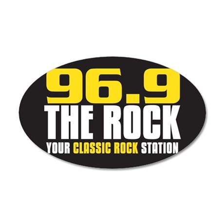 969 The Rock Your Classic Rock Station 20x12 Oval