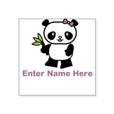 Personalized Panda Square Sticker 3
