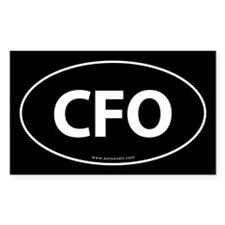 CFO Euro Style Auto Oval Decal -Black Decal