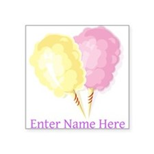 Personalized Cotton Candy Square Sticker 3