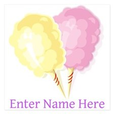 Personalized Cotton Candy 5.25 x 5.25 Flat Cards