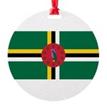 Dominica.jpg Round Ornament