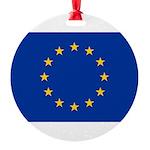 European Union.jpg Round Ornament